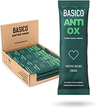 BARRITAS DE PROTEÍNA ANTIOXIDANTES Basico Foods Antiox. Naturales, Ecológicas, Veganas, Sin Azúcar Añadido. Eliminan Toxinas Y Previenen Las Lesiones. ...
