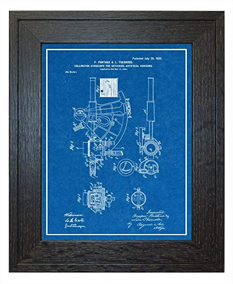 Amazon collimator gyroscope for obtaining artificial horizons collimator gyroscope for obtaining artificial horizons patent art blueprint print with a border in a malvernweather Images
