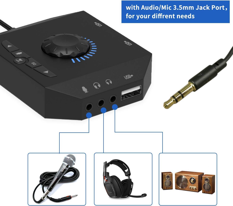Amazon.com: Hub USB con adaptador de audio, tarjeta de ...