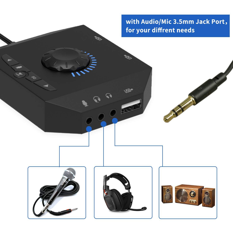 Tarjeta de Sonido USB, Tarjeta de Sonido Externa USB estéreo ...