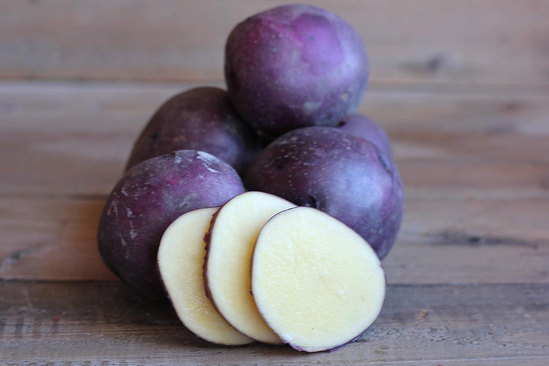 FARM DIRECT- ORGANIC SEED POTATOES- Huckleberry Gold 2 lbs