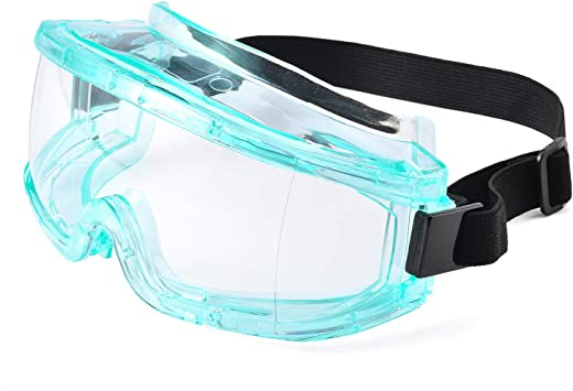 Safety Glasses With Clear An Fog-Free Dplus Safety Goggles With Universal Fit