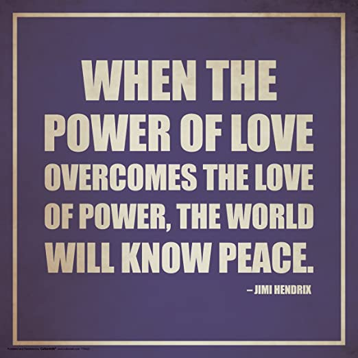 The Power of Love NEW Motivational Poster Jimi Hendrix