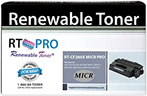 Renewable Toner Pro Compatible High Yield MICR Toner Cartridge Replacement for HP 80X CF280X Laserjet Pro 400 M401 M425