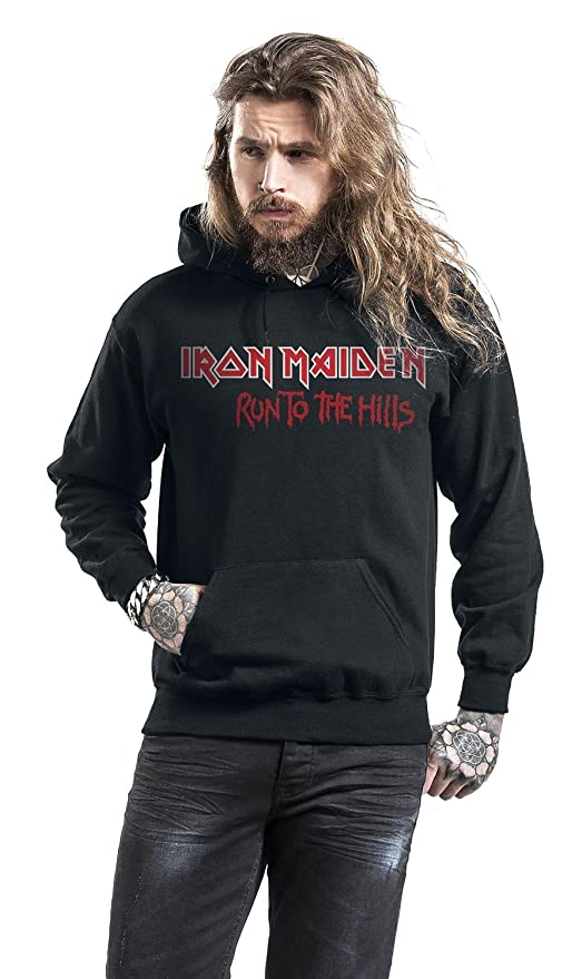 Iron Maiden Run To The Hills Sudadera con capucha Negro 5XL: Amazon.es: Ropa y accesorios