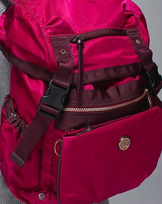 0fb2f8e51a Amazon.com   Lululemon Travelling Yogini Rucksack Backpack Cranberry Red  Bordeaux Drama   Sports   Outdoors