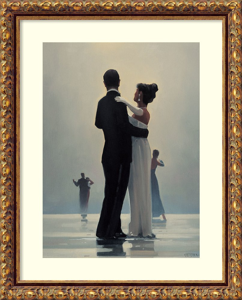 Framed Art Print 'Dance Me to the End of Love' by Jack Vettriano: Outer Size 16 x 20 by Amanti Art
