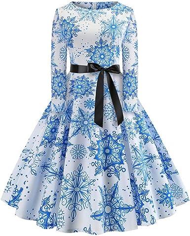Vintage Halloween Long Sleeve 50s Housewife Evening Party Dress High-Waist Dress Sumeimiya Womens Prom Dress