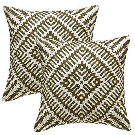MRNIU 2 Piezas fundas cojines sofa 50 x 50 cmVerde cojines decoracion almohadas de Decoración para el Hogar Dormitorio Tapizado Fundas Cojines 20 x 20 ...