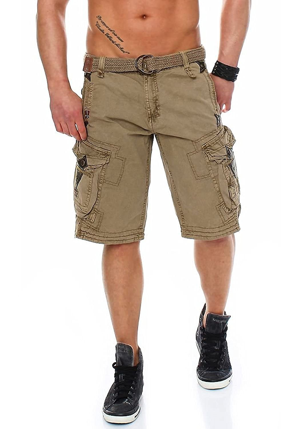 Geographical Norway - Pantalón Corto - para Hombre Beige Large
