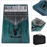 ACHICOO カリンバ 親指ピアノ 17鍵 木製 マホガニー 指打楽器 音楽 アフリカン トナカイブルー