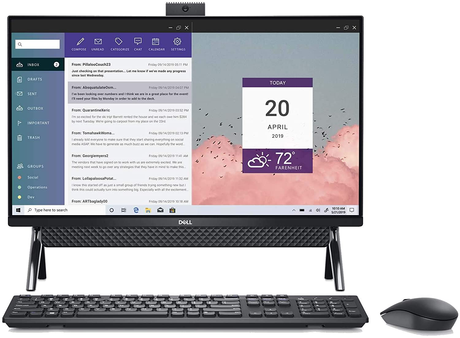 Dell Inspiron 5400 AIO 23.8 Inch FHD Touch All in One, Intel Core i3-1115G4, 8GB 2666MHz DDR4 RAM, 1TB SATA HDD, Intel UHD Graphics, Windows 10 Home (Latest Model)