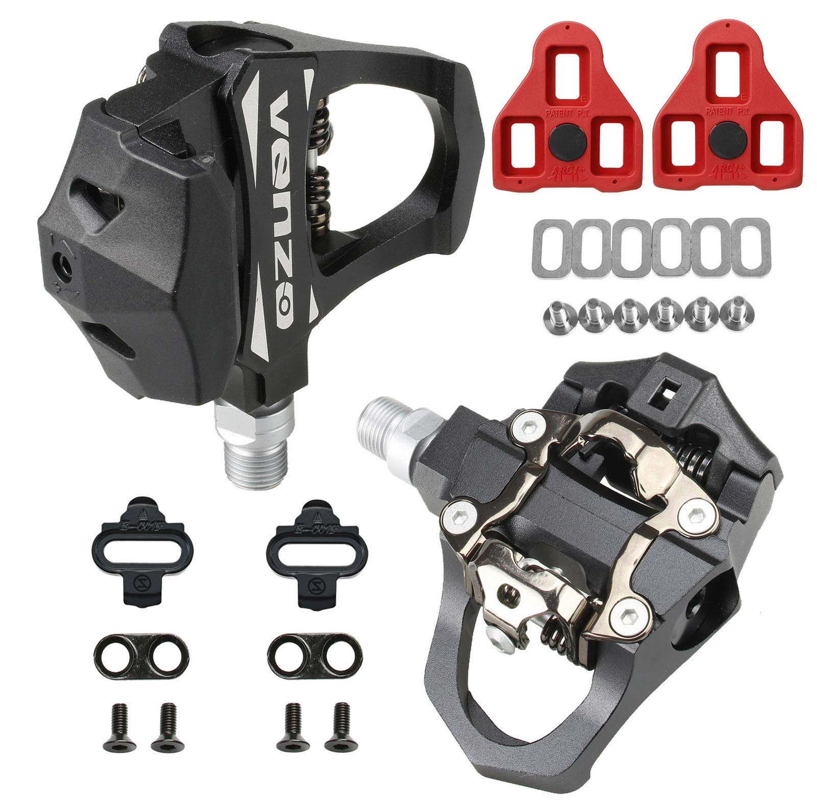 Venzo Sealed Fitness Exercise Indoor Bike CNC Pedals Compatible with – Look ARC Delta – Shimano SPD- Toe Clip or Cage…