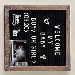 Amazon 素朴なウッドフレーム グレーのフェルト レターボード 掲示板 25 4cm X 25 4cm カット済みのホワイトとゴールドのアルファベット 記号 絵文字 単純な筆記体の単語 文字を入れるバッグ ハサミ ビンテージウッドスタンド プレゼン 会議 セミナー用品