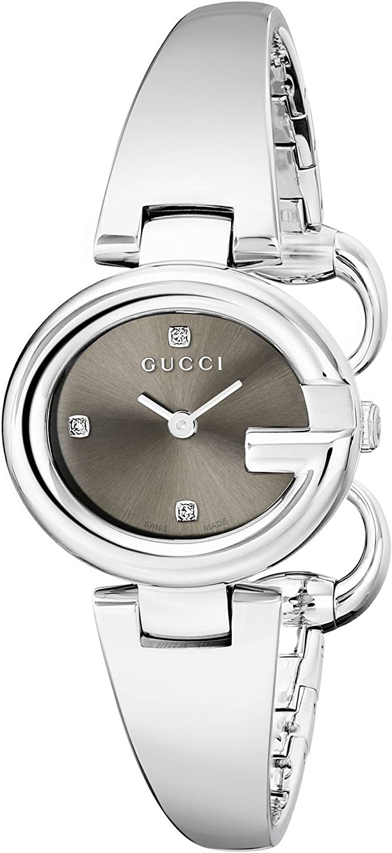 Gucci YA134506 - Reloj de Cuarzo para Mujer, con Correa de Acero Inoxidable, Color Plateado