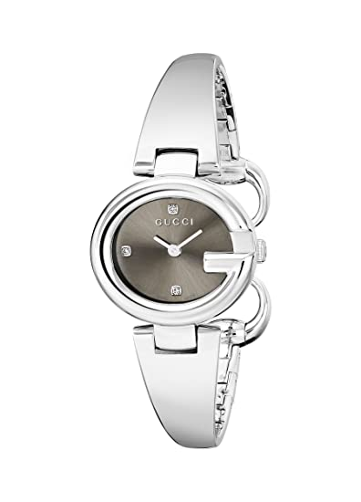 5abb1f73e8d Gucci Women s YA134506 Guccissima Diamond-Accented Stainless Steel Bangle  Watch  Gucci  Amazon.ca  Watches