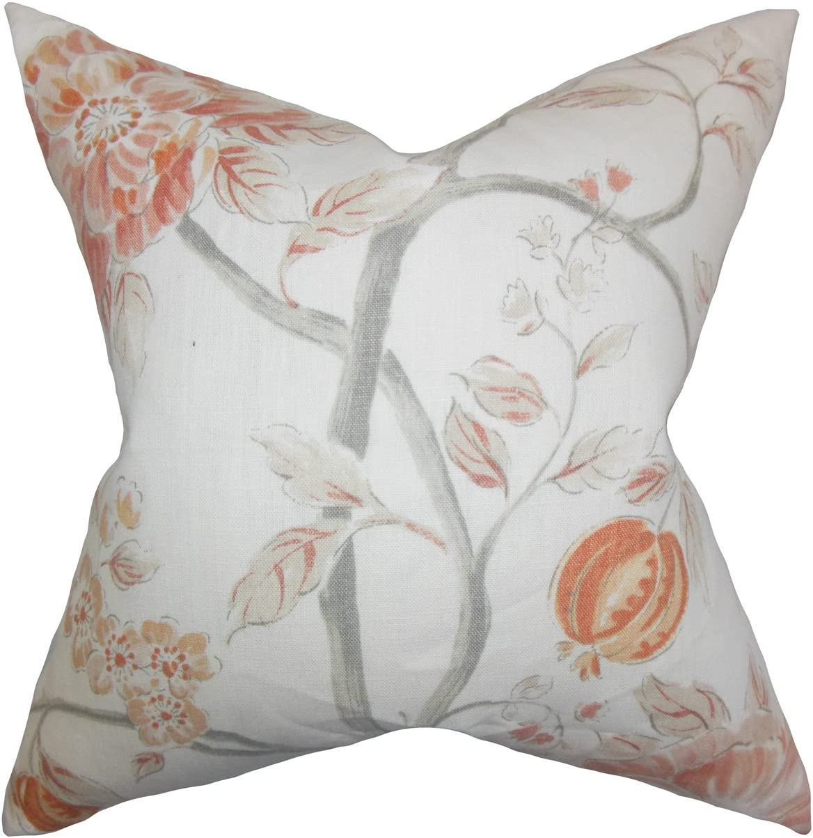The Pillow Collection Ivria Floral Bedding Sham Bloom King//20 x 36