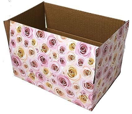 Amazon 40 40x40x40 Rose Designer Boxes Corrugated Cardboard Box Delectable Decorative Mailer Boxes