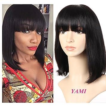 Short Straight Bob Wig for Black Women 100% Human Hair Black Women s Wig  With Hair 6404052587