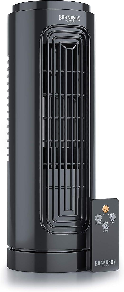 Brandson - Ventilador de Mesa con telecomando -Ventilador de Torre ...