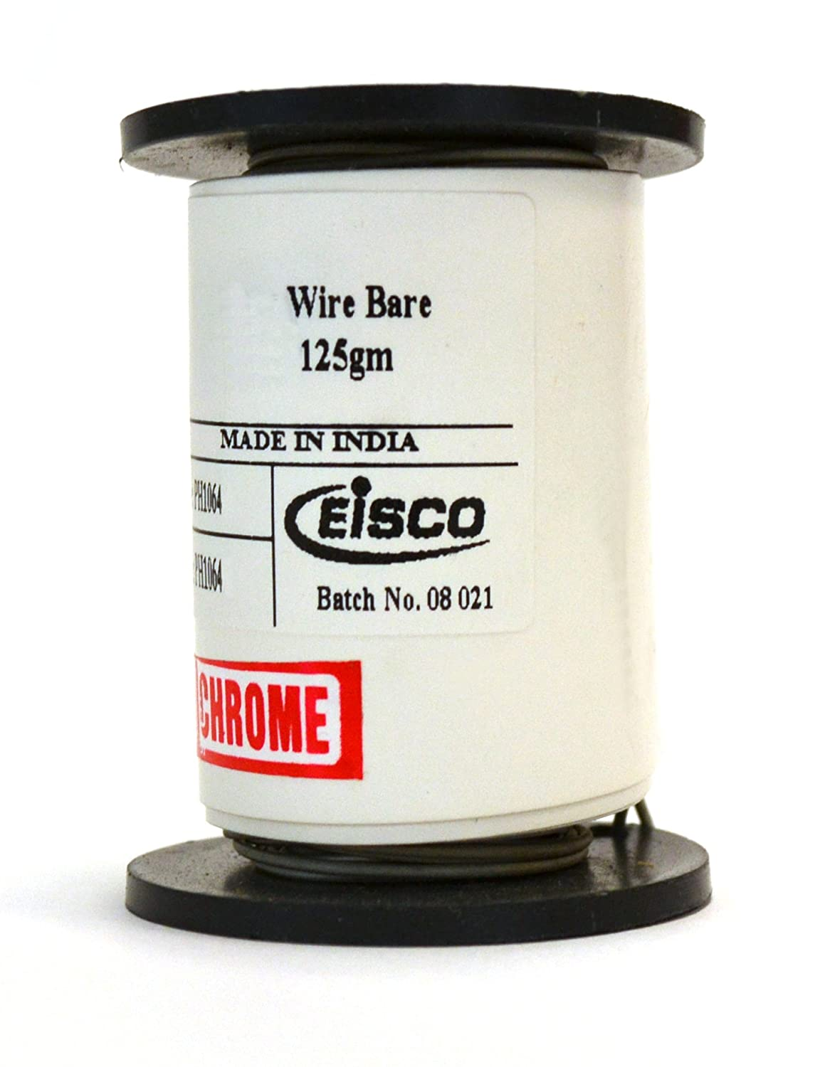 Eisco Labs Chromium Resistance Wire, 90ft Reel, 20 Gauge SWG - 19 AWG - 0.036' Dia. 20 Gauge SWG - 19 AWG - 0.036 Dia. CECOMINOD003975