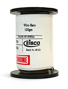 "Eisco Labs Nichrome Resistance Wire, 1000ft Reel, 32 Gauge SWG - 33/34 AWG - 0.0108"" Dia."