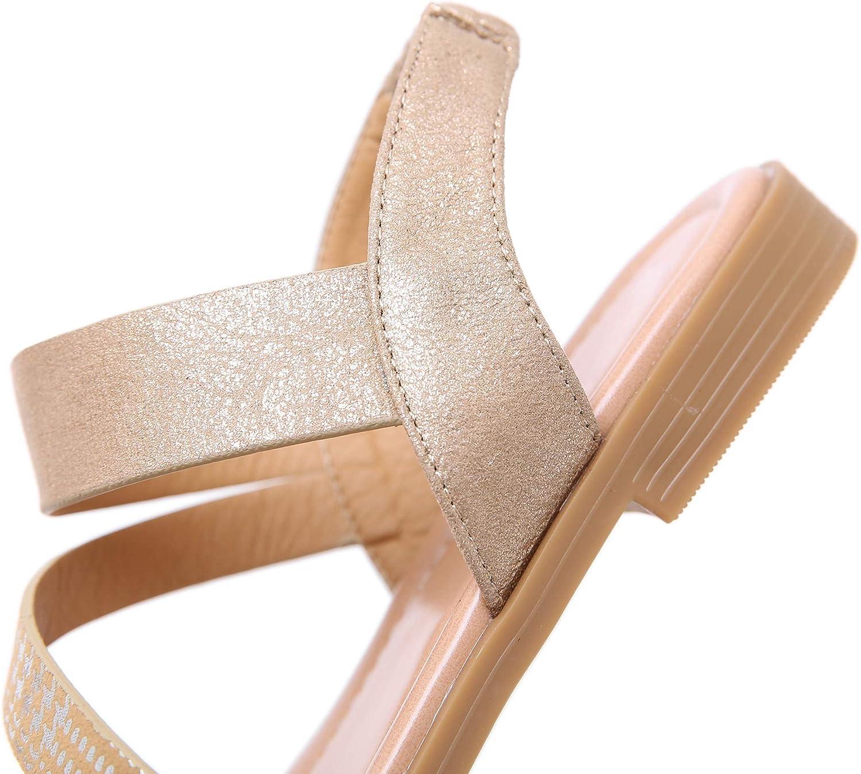 APTRO Damen Sandalen Sommer Schuhe Strandschuhe Flach Zehentrenner Sandalen f/ür M/ädchen
