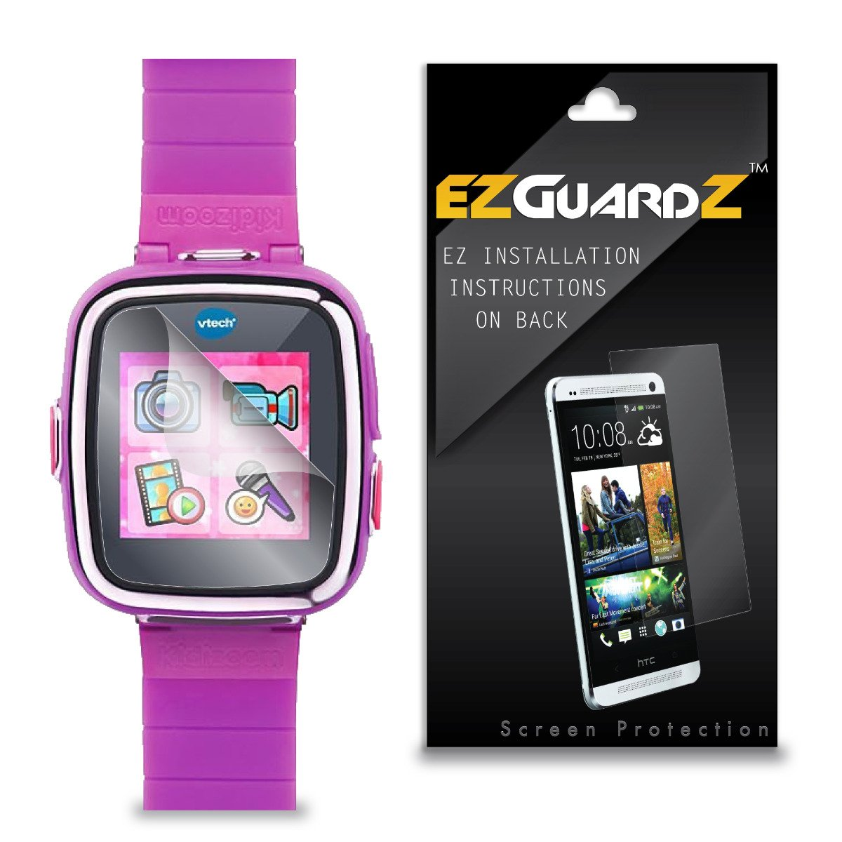 (4-Pack) EZGuardZ Screen Protector for VTech KidiZoom DX Smartwatch (Ultra Clear)