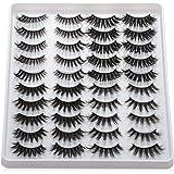 20 Pairs/set Beauty Criss-cross Handmade Eye Makeup Tools Thick Long False Eyelashes 3D Faux Mink Wispies Fluffies(401)