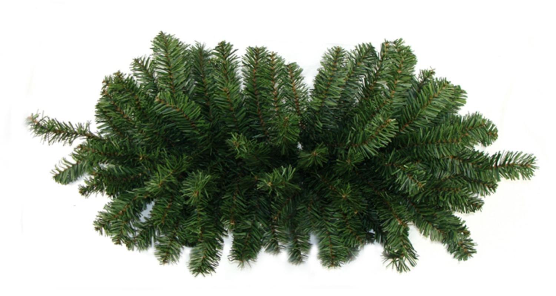Darice 32'' Two-Tone Canadian Pine Artificial Christmas Door Swag - Unlit