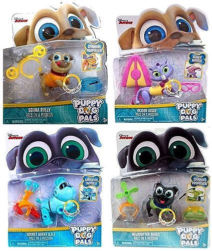 Amazon Com Puppy Dog Pals Toy Bundle Scuba Rolly Glider Hissy