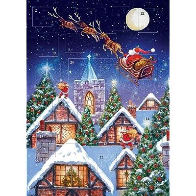 Calendrier de l'avent Traineau nocturne de Santa Finition paillettes