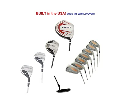 7e31b2f51ce3 Amazon.com : AGXGOLF Golf Men's Black Triumph Complete Golf Club Set ...