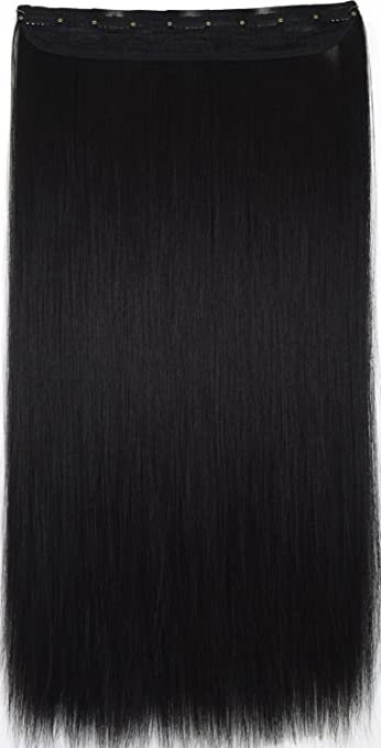 Synthetic Clip-in One Piece Synthetic Extensions Topreety Heat Resistant Synthetic Hair 24 60cm 100gr Straight 5 Clips On Clip In Hair Extensions 40 Colors Available