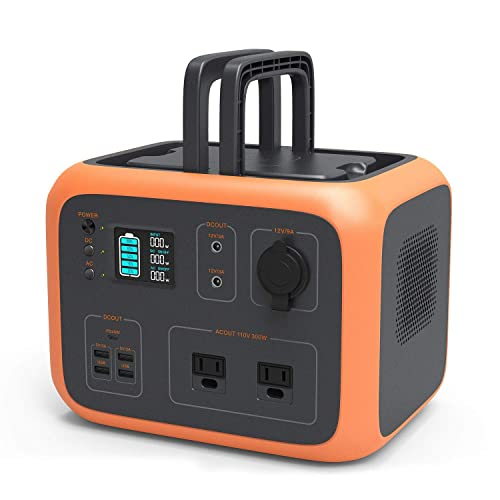 Dr. Prepare Portable Power Station 500Wh, Outdoor Generator, Mobile Battery Backup Clean Silent with Dual AC Outlet, Car Outlets, LED Flashlights, for Camping, CPAP, RV Trip, Power Outage Emergency