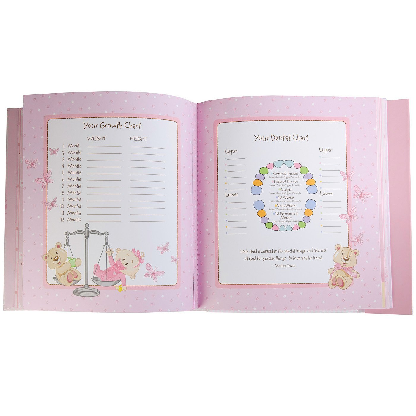 Amazon our baby girl memory book baby photo albums baby nvjuhfo Images