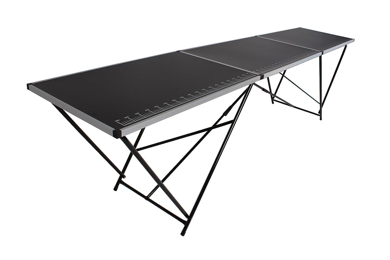 Beach & Pool - Tavolo da tappezziere, acciaio, 300 x 60 cm, pieghevole, tavolo multifunzione, tavolo da imbianchino, tavolo richiudibile, banco per il mercato delle pulci, tavolo per feste. BeachandPool