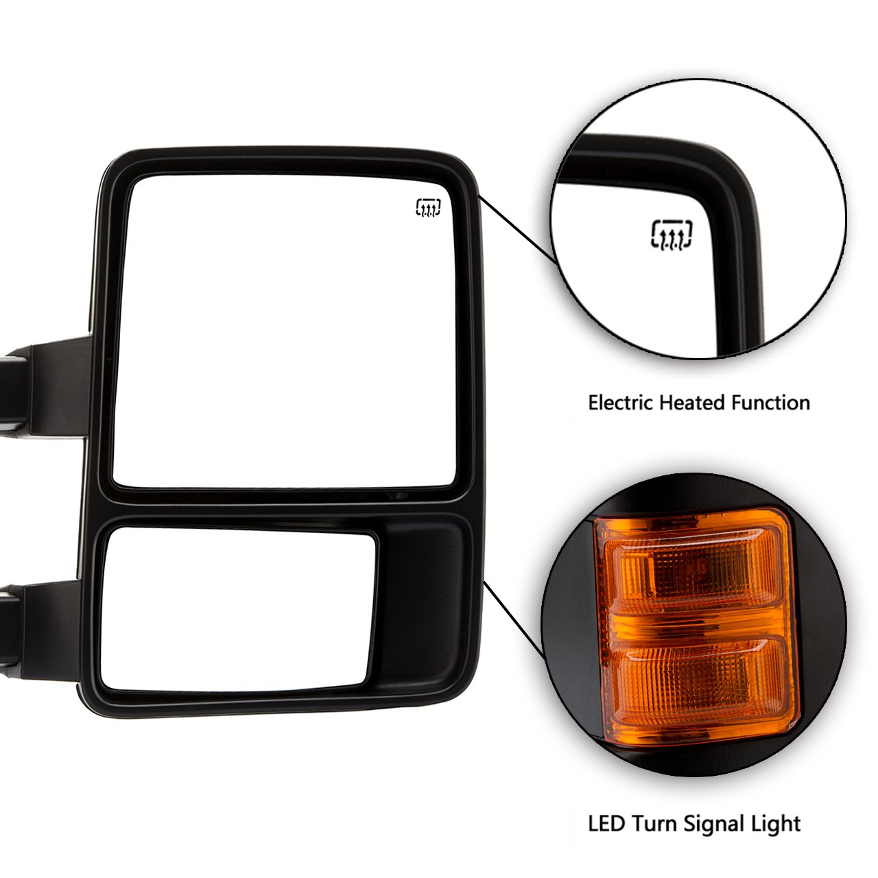 Dedc Left Driver Side Power Heated W Turn Signal Light Ford F 350 Mirror Wiring Diagrams Towing Mirrors For 08 15 Super Duty F250 F350 F450 2008 2009 2010 2011 2012 2013