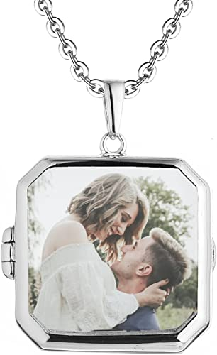 With You Lockets-Sterling Silver-Custom Photo Locket Necklaces-That Hold Pictures-Zodiac Pendant-Astrology Locket