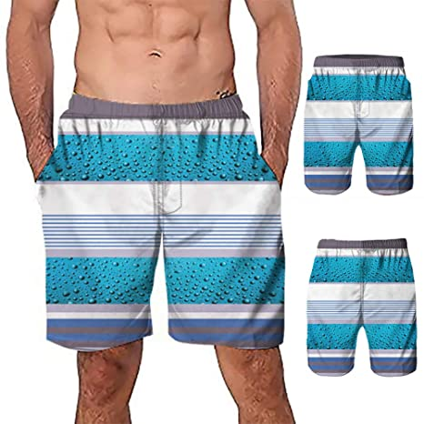 HMKYYJ Marca Pantalones Cortos Hombres Playa Traje de baño Nadar ...