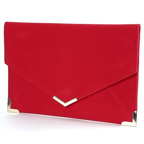 Surepromise - Cartera de mano de cuero sintético para mujer Rojo rojo: Amazon.es: Zapatos y complementos
