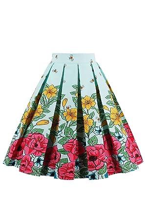 Babyonline - Falda - Floral - 95 DEN - para mujer abeja Large ...