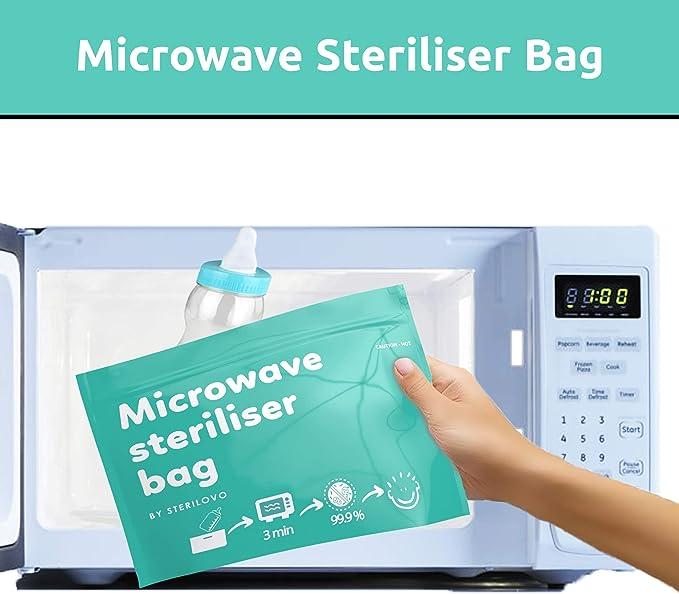 Pack ahorro de 12 bolsas esterilizadoras para microondas. Bolsas ...