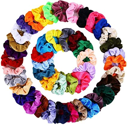 Velvet Elástico Scrunchies de Pelo Hair 46 Pack y Colores para Mujeres Chicas Niñas, Gomas del pelo para Cabello Ponytail Titular: Amazon.es: Belleza
