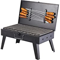 Starvin HotL Foldable Briefcase Style Charcoal Barbeque B-33