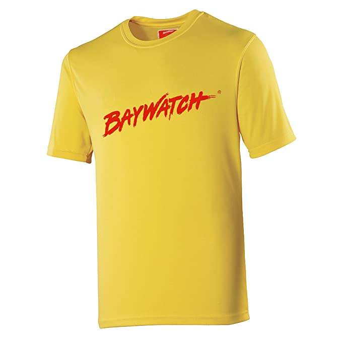 Lifeguardgear - Camiseta - Básico - Manga corta - para hombre, Jaune - Yellow And Red, X-Large: Amazon.es: Ropa y accesorios