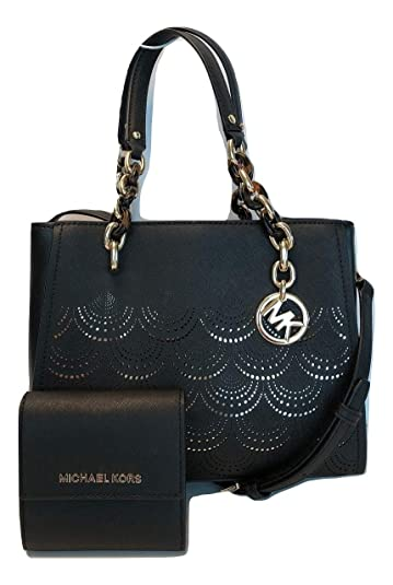 a1d104730ca5b0 MICHAEL Michael Kors Sofia MD NS Satchel bundled with Michael Kors SM Card  Case Carryall Wallet