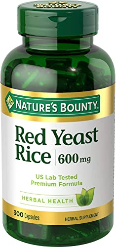 Nature s Bounty Red Yeast Rice 600mg 300 ct.
