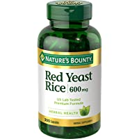 Arroz de levadura roja Nature's Bounty, 600 mg (300 ct.)