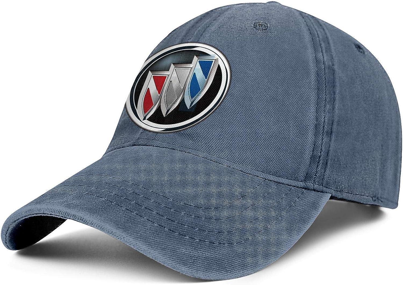 Mens Women Washed Trucker Cap Adjustable Snapback Sports Hat Buick-Logo